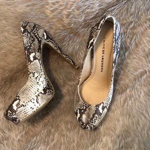 Chinese laundry snake skin heels